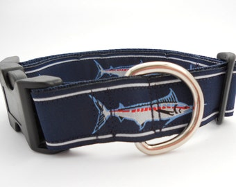 Blue Marlin Fish Dog Collar