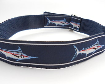 Nautical Boys Belt - Blue Marlin Fish