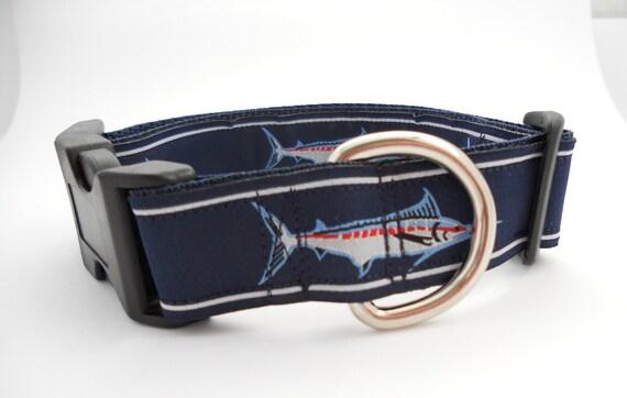 Blue marlin fish dog collar for Fish dog collar