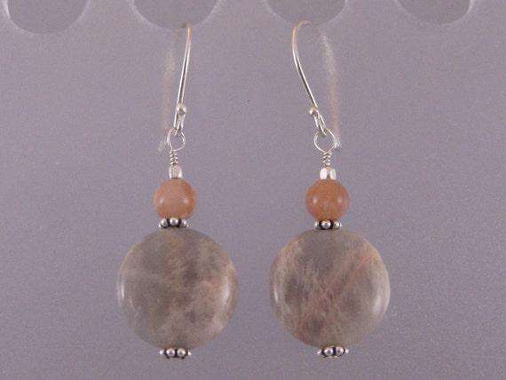 Natural sunstone earrings