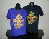 Tiger Saint T Shirt    New Orleans Saints and LSU Tigers all wrapped up in one shirt now in PURPLE or  BLACK shirt