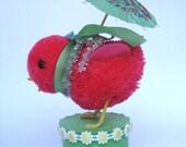 Strawberry Chick with Umbrella