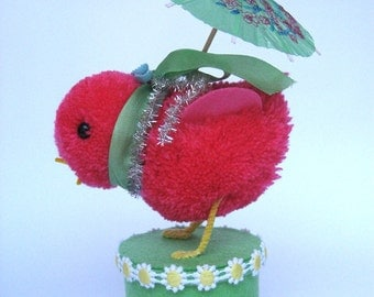 Strawberry Chick with Umbrella