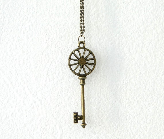Get the bohemian look -key charm necklace