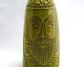Midcentury Modern Vase with Bearded Face-Treasure Craft