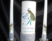 Peacock Unity Candle Set