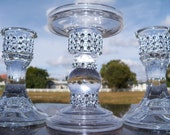 Bling  Glass Unity  Candle Holder Set, Candle holder, Glass holder, Wedding Gift, Gift for Bride
