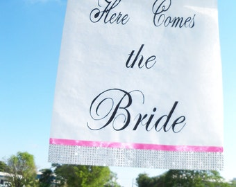 "Bling Wedding ""Here Comes the Bride"" banner"