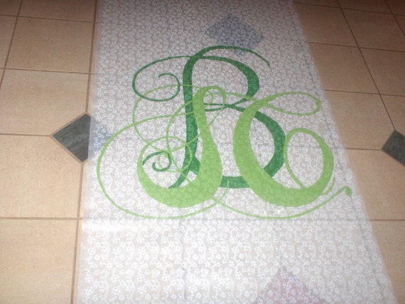 Hand-painted Monogrammed Aisle Runners