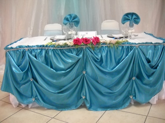 Delicieux Amazing Elegant Head Table Skirt Head Table Table Clothe Satin Table Skirt  With Simple Table Skirting Designs