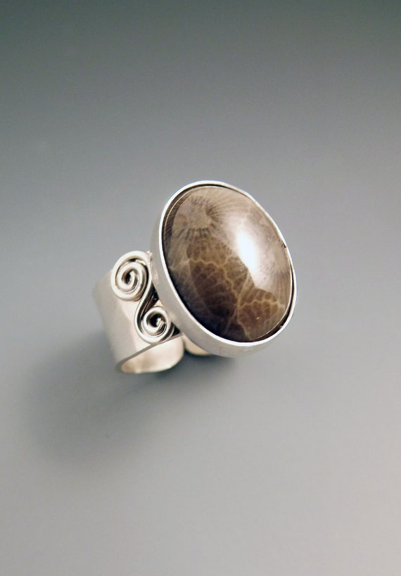 Michigan Petoskey Stone Ring