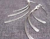 Triple Drop Feathered Earrings