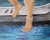 Get Out of the Boat Walk on Water Prophetic Art Fine Art Print 8x10 Nathalie Kelley