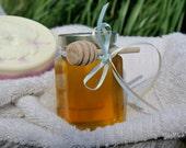 Raw Honey Jar,  Wooden Dippers