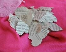 Bridal Shower Decor, Book Confetti, Romance Novel Confetti, Heart Shaped, Paper Hearts, Valentines Day