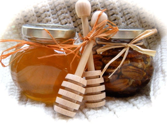Edible Father's  Day Gift, Pecans & Raw Honey, Grandpa Gift Set