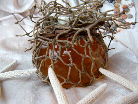 Raw Natural Honey, Fisherman Gift, Father's  Day Gift For Him,  Honey Jar Wrapped In Fish Net