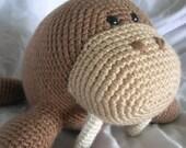 Wilbur the Walrus - Amigurumi Crochet PATTERN ONLY (PDF)