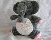 Eleanor the Elephant - Amigurumi Crochet PATTERN ONLY (PDF)
