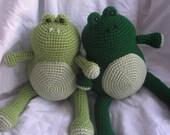 Ferdinand the Frog - Amigurumi Crochet Plush PATTERN ONLY (PDF)