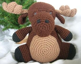 Morton the Moose - Amigurumi Plush Crochet PATTERN ONLY (PDF)