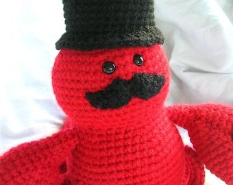 Sir Lawrence the Lobster - Amigurumi Crochet Plush PATTERN ONLY (PDF)