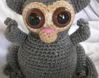 Timmy the Tarsier - Amigurumi Plush Crochet PATTERN ONLY (PDF)