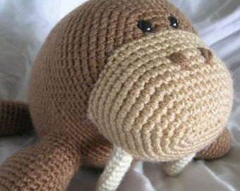 Wilbur the Walrus - Amigurumi Crochet PATTERN ONLY (PDF)