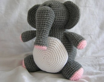 Eleanor the Elephant - Amigurumi Crochet PATTERN ONLY (PDF)