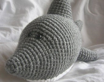 Sam the Shark - Amigurumi Plush Crochet PATTERN ONLY (PDF)