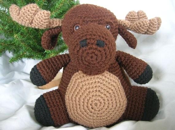 Free Amigurumi Moose Pattern : Morton the Moose Amigurumi Plush Crochet PATTERN ONLY PDF