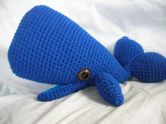 Amigurumi Whale : Wally the Whale Amigurumi Plush Crochet PATTERN by ...