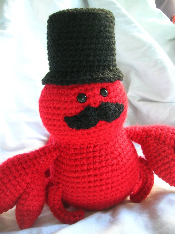 Sir Lawrence the Lobster - Amigurumi Crochet Plush PATTERN ONLY (PDF)