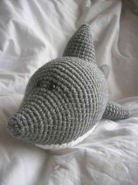 Amigurumi Shark Crochet Pattern : Sam the Shark Amigurumi Plush Crochet PATTERN ONLY PDF