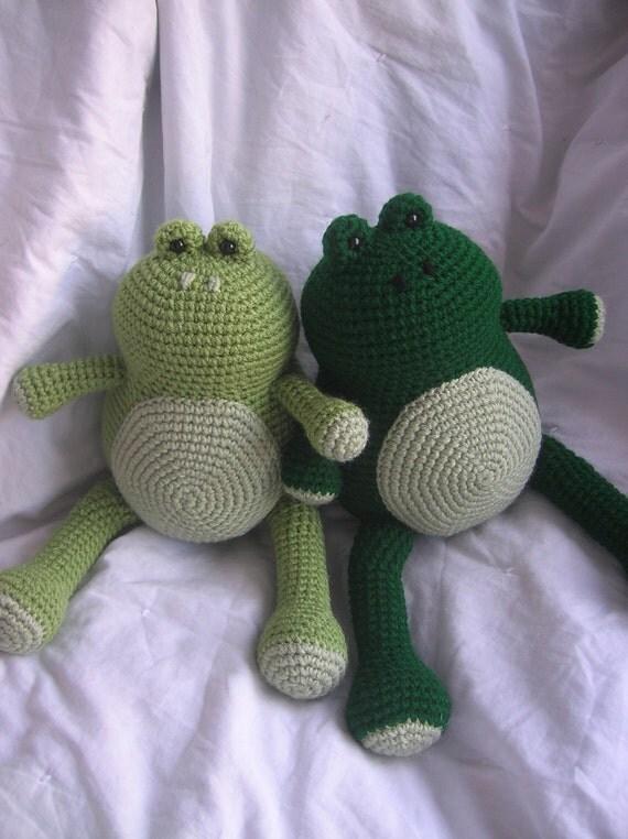 Amigurumi Crochet Frog : Ferdinand the Frog Amigurumi Crochet Plush PATTERN ONLY