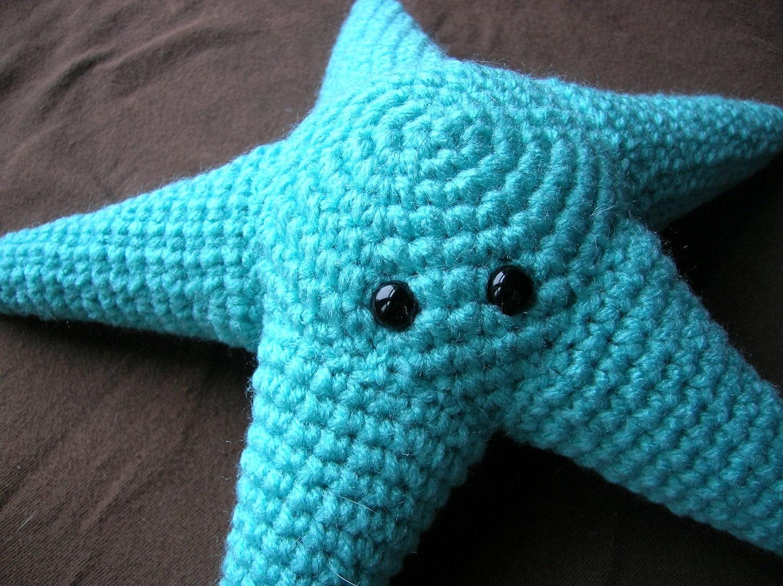 Amigurumi Crochet In The Round : Stuart the Starfish Amigurumi Plush Crochet PATTERN ONLY