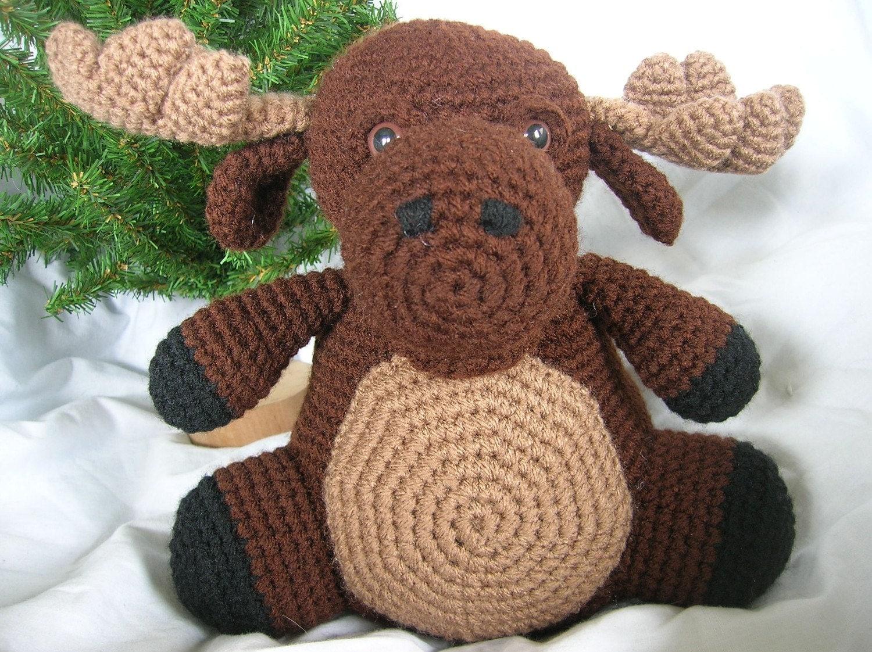 Amigurumi Moose Pattern Free : Morton the Moose Amigurumi Plush Crochet PATTERN ONLY PDF