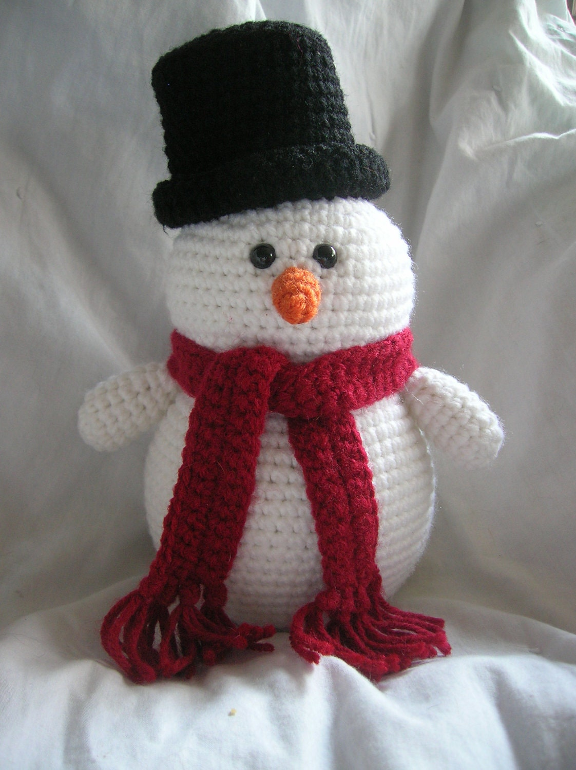 Crochet Patterns Free Snowman : Steve the Snowman Amigurumi Crochet Plush PATTERN ONLY PDF