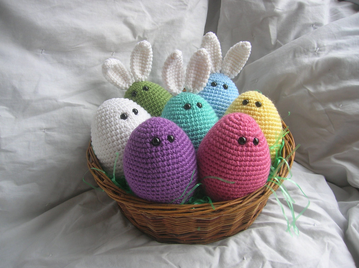 Amigurumi Easter Eggs Crochet Pattern : Easter Eggles Amigurumi Plush Crochet PATTERN ONLY PDF