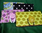 Fabric business card holder and / or organizer