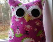 Fancy Stuffed Owl - Cotton-