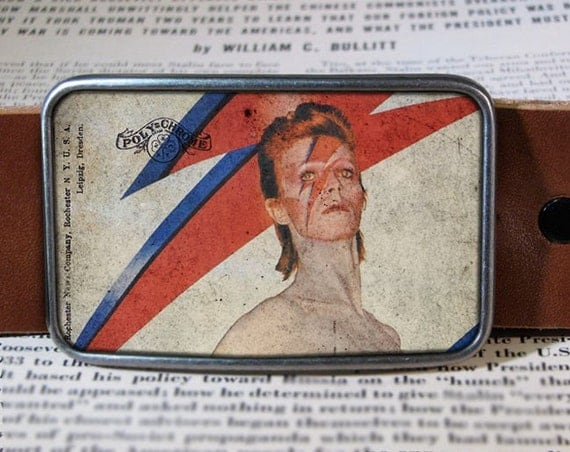 ziggy stardust belt buckle, david bowie buckle 268