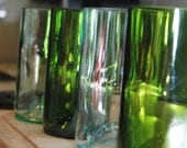 Eco-friendly glasses from wine bottles - set of 4 tumblers