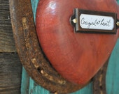 Cowgirl at Heart- Rustic Cowboy Horseshoe, great western art, cowgirl gift or birhtday gift for someone with western decor