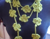 Clover Lariat with Gold Beads