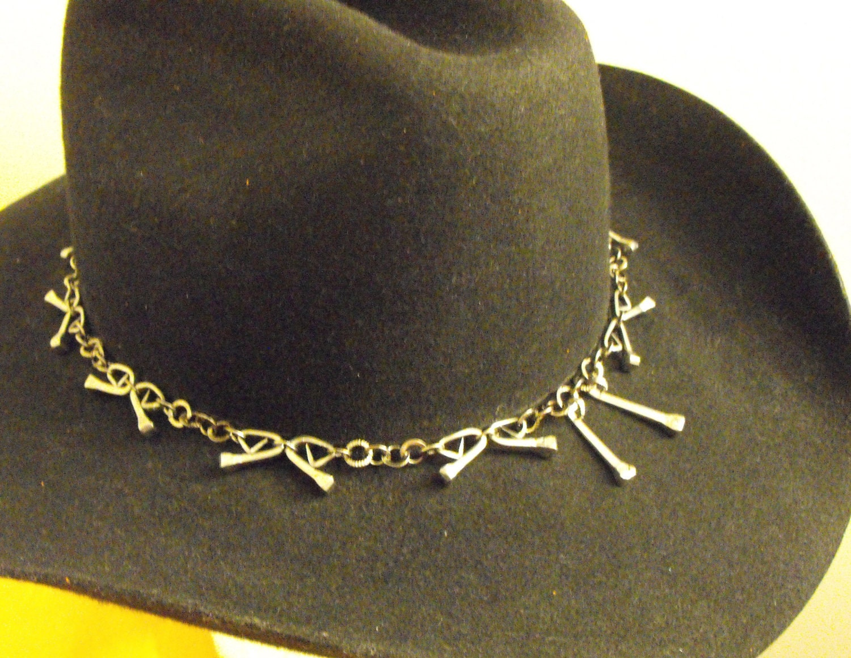 Horseshoe Nail Hat Band for Cowboy Hat