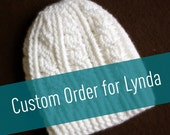 Custom White Cable Beanie for Lynda