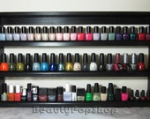 """XL """"Dolly"""" Nail Polish Rack in Black or White - Ships Assembled & Ready to Hang"""