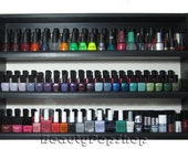 "XXL ""Queen B"" Nail Polish Rack in Black or White holds over 100 polishes - Ships Assembled & Ready to Hang"