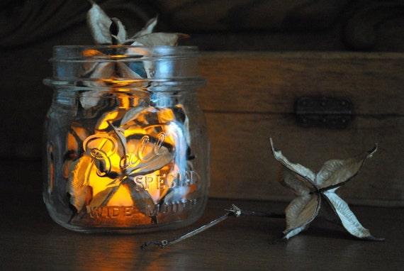 Cotton Bur Luminary - Raw Cotton - Natural Cotton Bur - Vintage - Wedding - Christmas - Holiday - Home Decor - Centerpiece